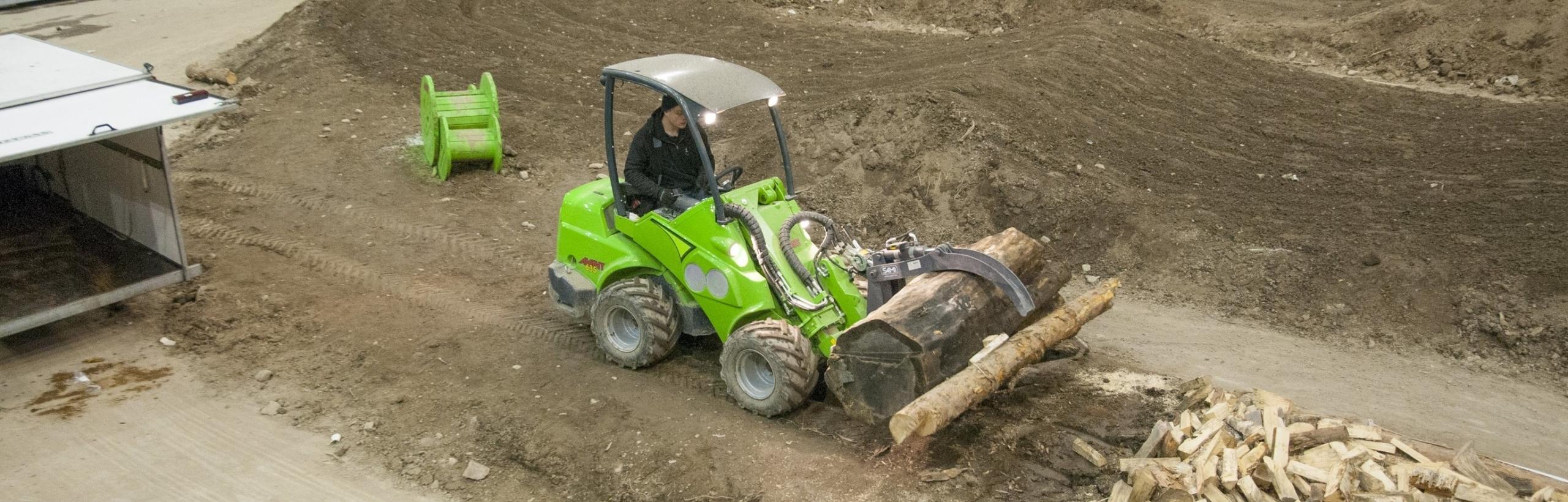 Holzgreifer für Palettengabel