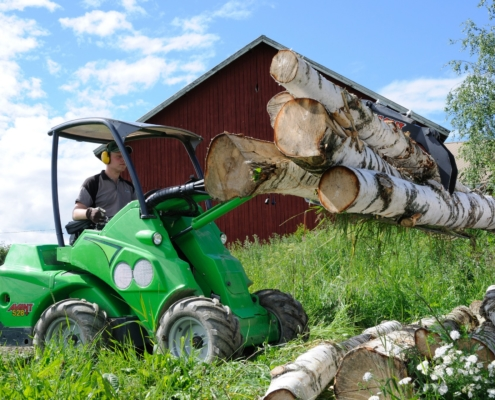 Holzgreifer Holzzange auf Palettengabel