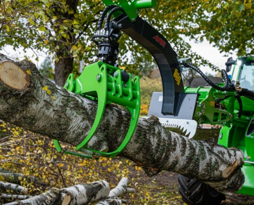 Rückezange für Forst