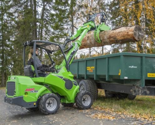 Holzzange Anbaugerät