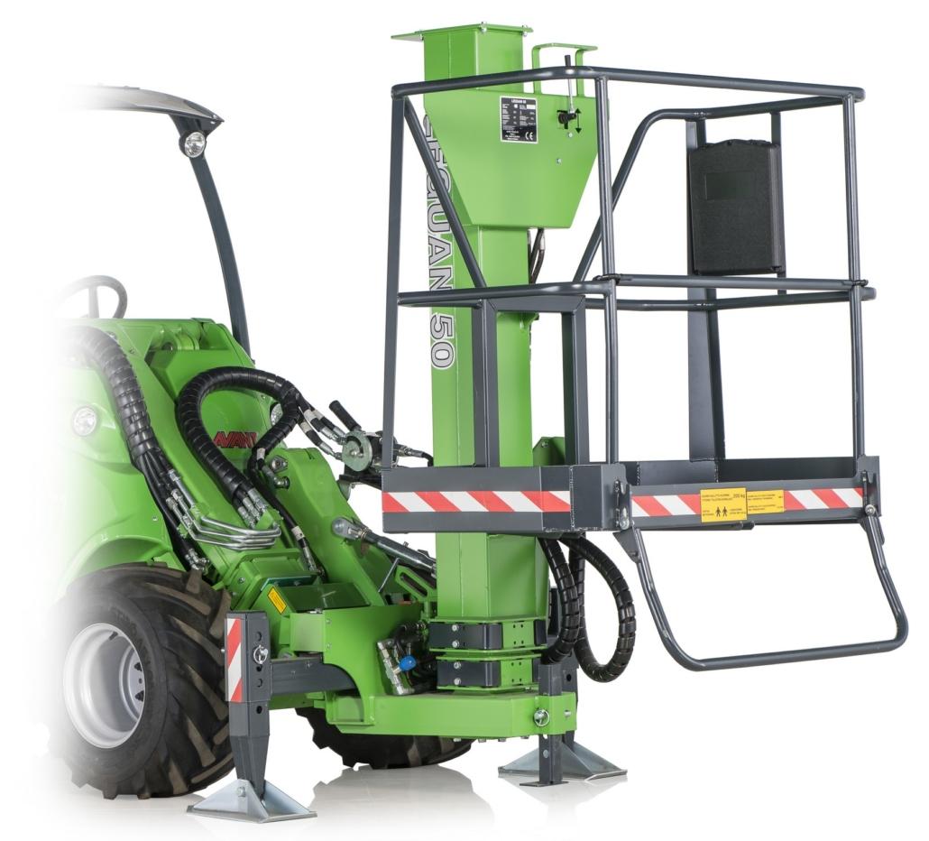 Arbeitsbühne hydraulisch Anbaugerät